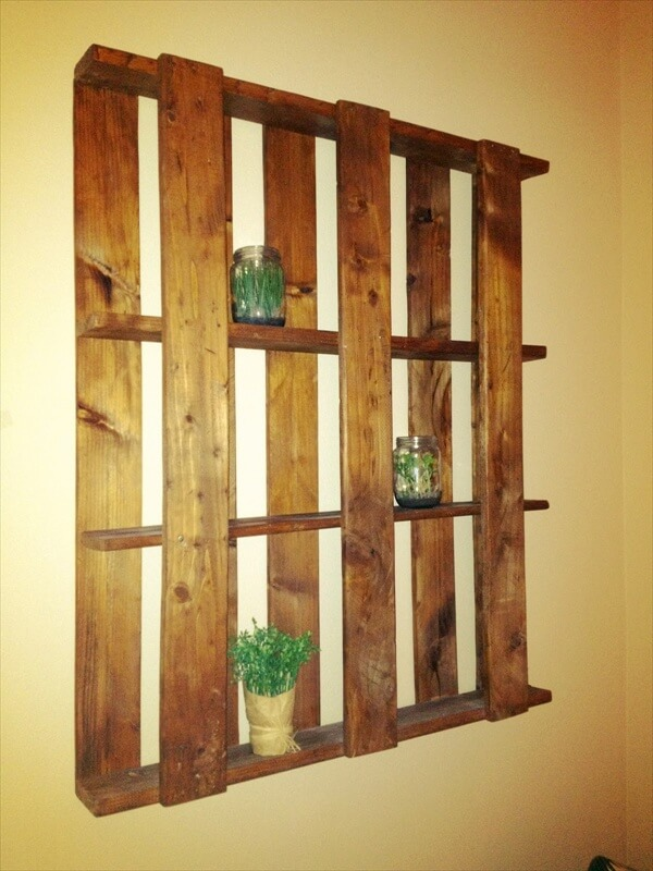 Pallet shelves best utilization of space 101 pallets for How to build pallet shelves