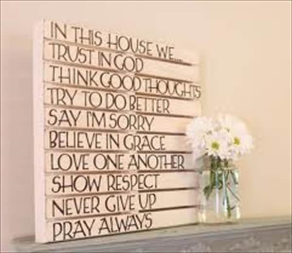 DIY Wall Art: Wooden Pallet Wall Decoration | 101 Pallets