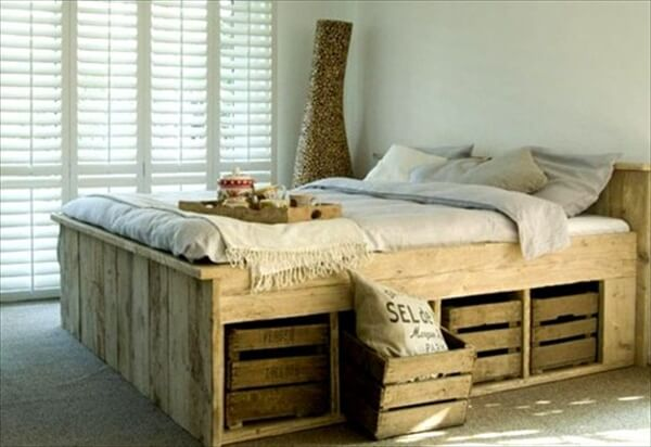 13 inexpensive wooden pallet bed frame 101 pallets - Inexpensive Bed Frame