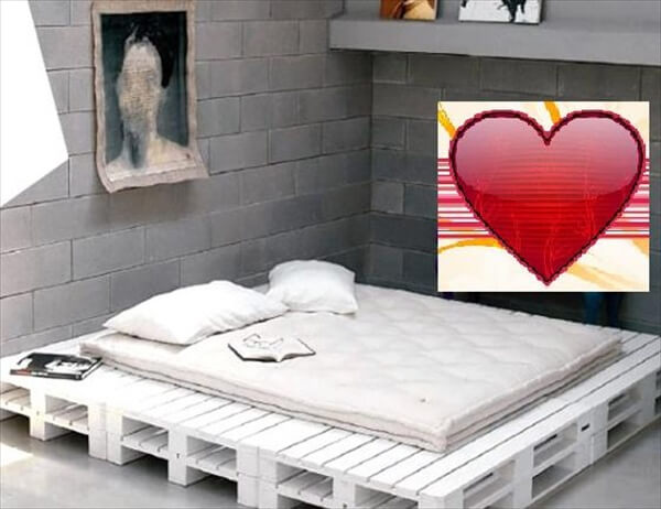 how to make a platform bed frame with pallets | Quick ...