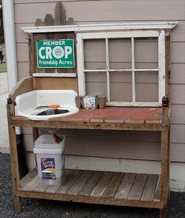 PDF DIY Making A Potting Bench From Pallets Download Mini