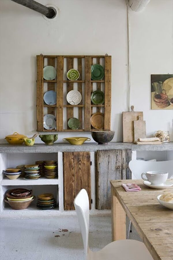 pallet kitchen rack