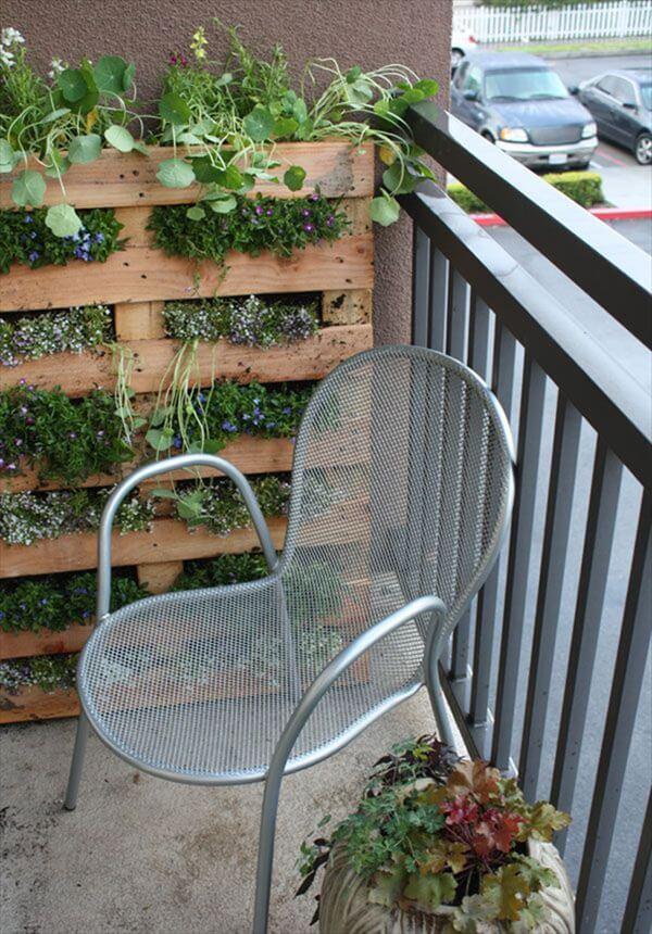 pallet balcony garden
