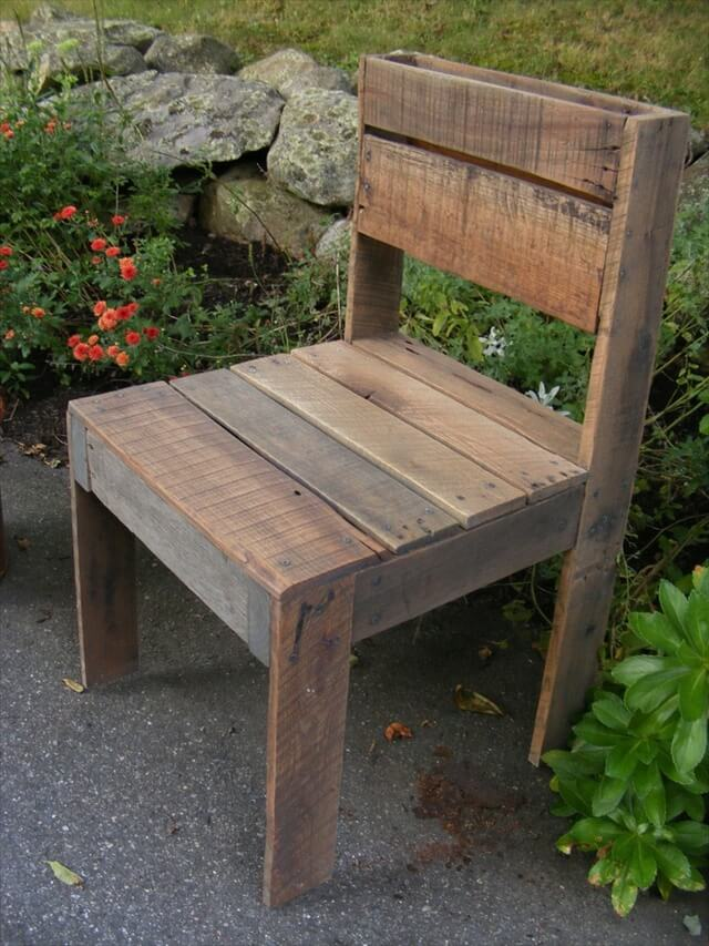 pallet chair. Ideas for Wooden Pallet Crafts  8 Pallet Furniture   101 Pallets