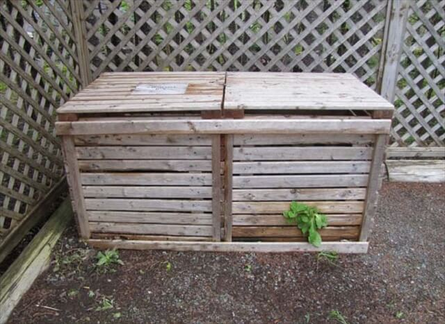 Ideas for a Wooden Pallet Compost Bin | 101 Pallets
