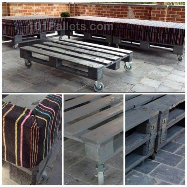 Beautiful Garden Pallet Lounge Set