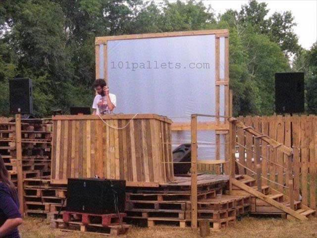 Dj Pallet Stage Garden Party 101 Pallets