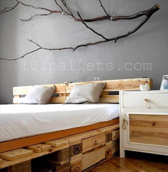 DIY Unique Style Pallets Bed | 101 Pallets