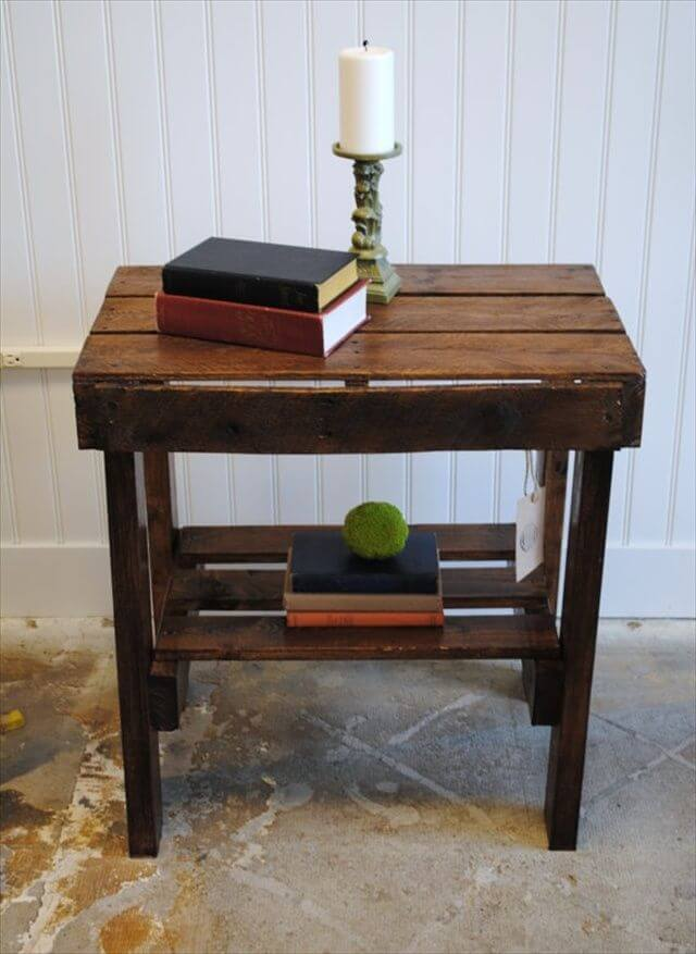 appreciating ideas for a perfect pallet end table 101
