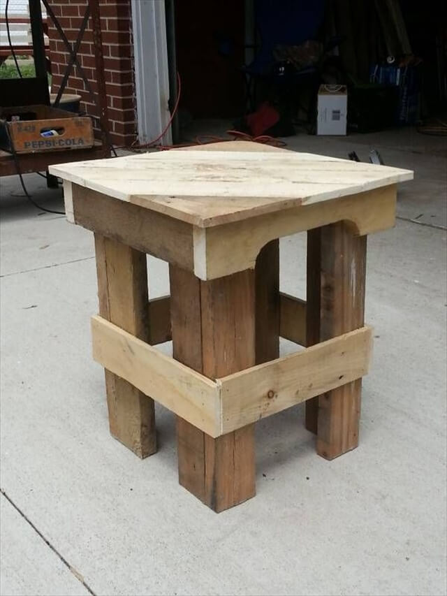 how to make end tables out of pallets | Quick Woodworking ...