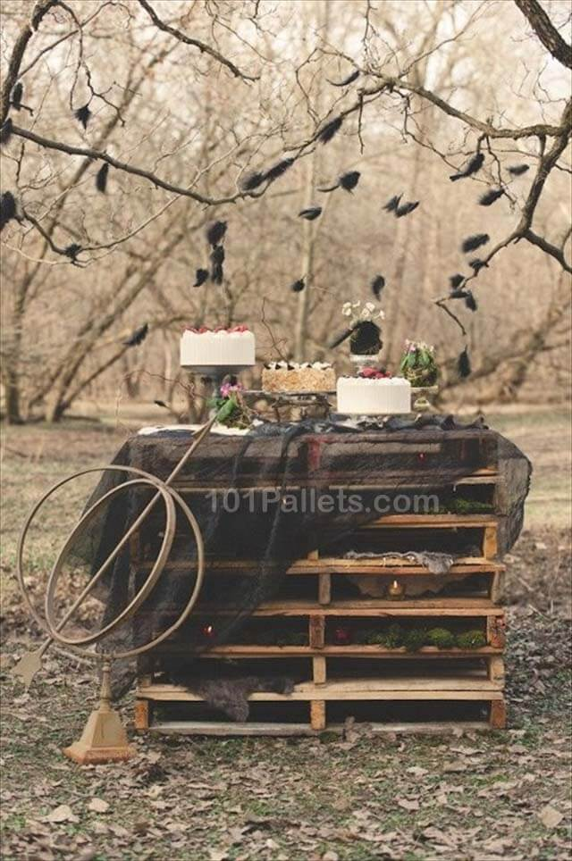 Wedding Day Pallets Table