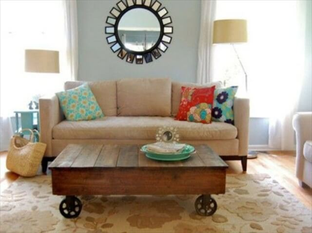 pallet living room coffee table