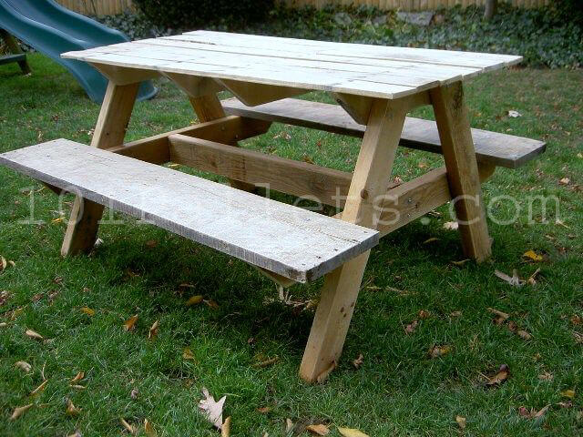 how to make a round wooden picnic table