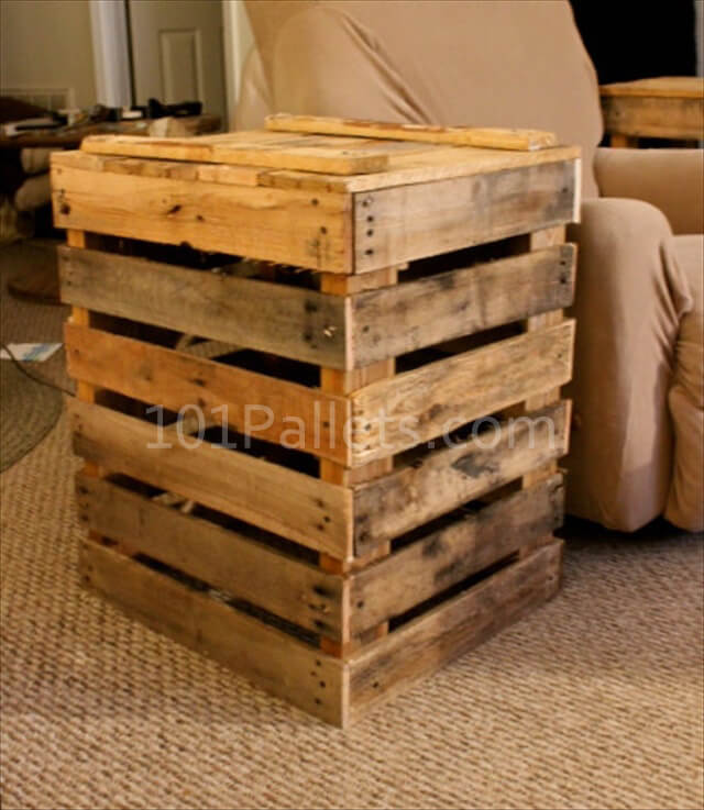 Hand Crafted Pallet Side Table 101 Pallets