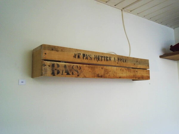 Do You Know Wall fixture from Crate wood?