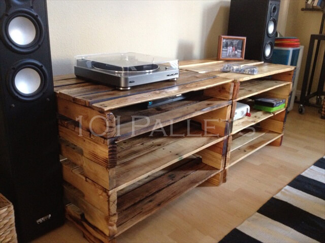 Pallet Media Console Table 101 Pallets