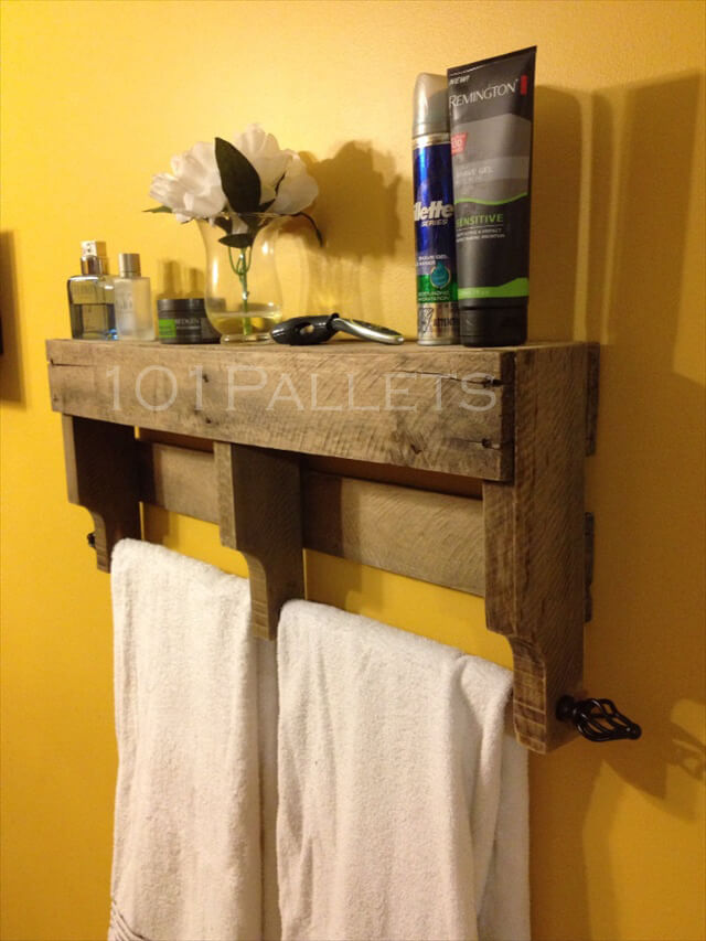 pallet towel rack for bathroom 101 pallets