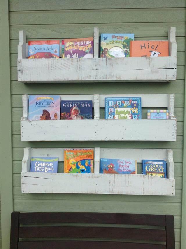 How to build pallet shelves : Diy pallet wall shelves