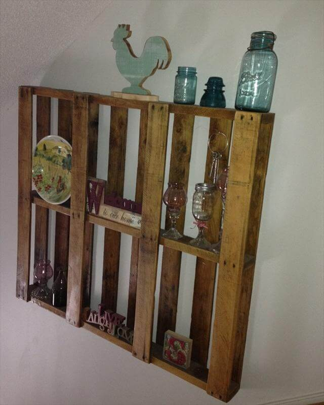 Pallet Shelves Ideas: 25 DIY Pallet Shelves For Storage Your Things