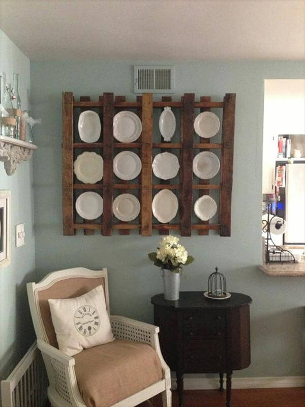 Pallet Plate Rack For Kitchen Diy 101 Pallets