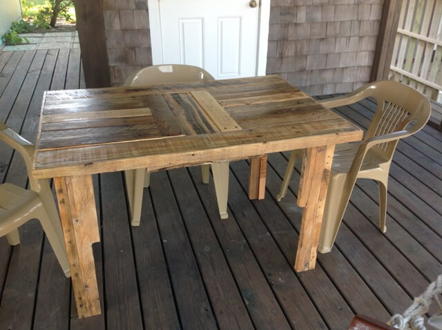 Diy Pallet Table By Scott Bucy 101 Pallets