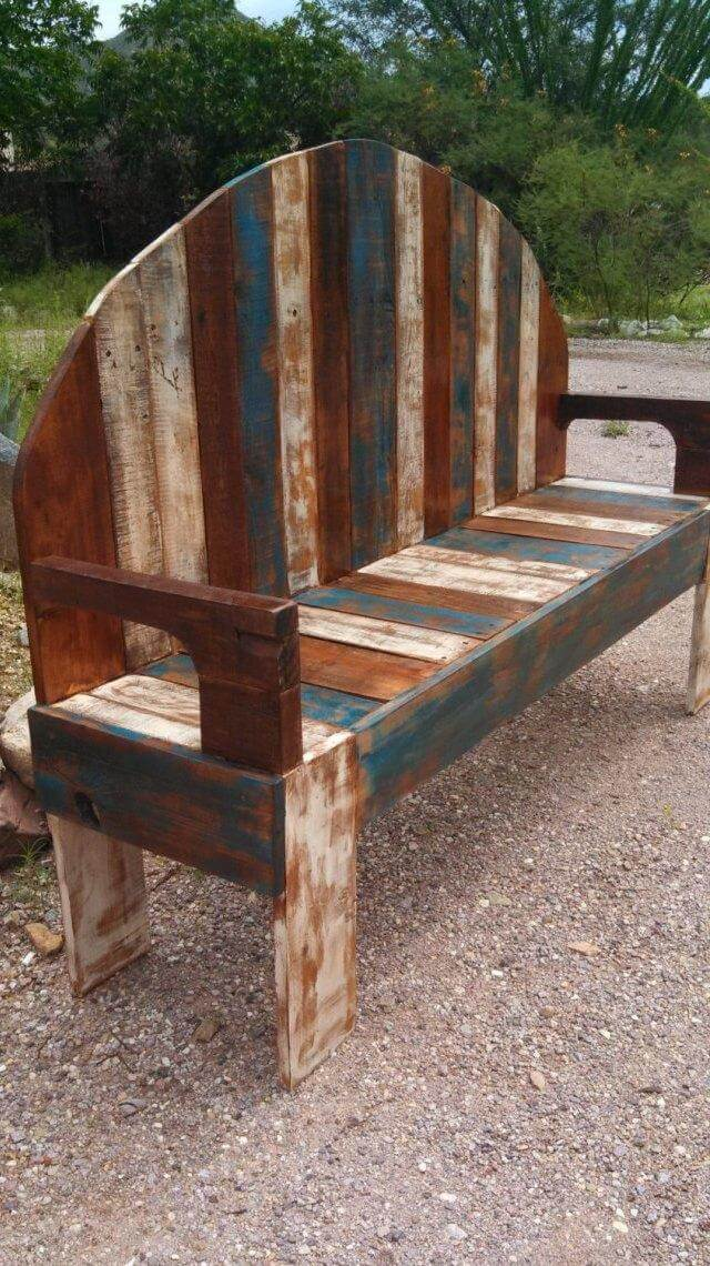 handmade rustic pallet bench 101 pallets