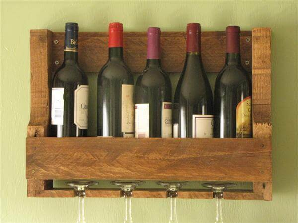 Recycled Pallet Wine Rack 101 Pallets
