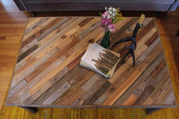 Pallet and Barn Wood Coffee Table | 101 Pallets