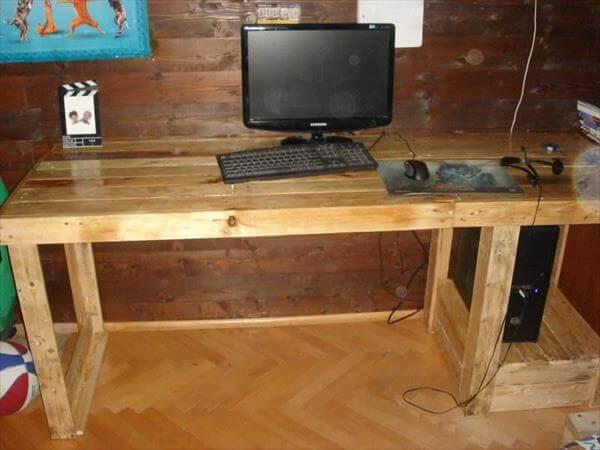DIY Pallet Computer Desk | 101 Pallets