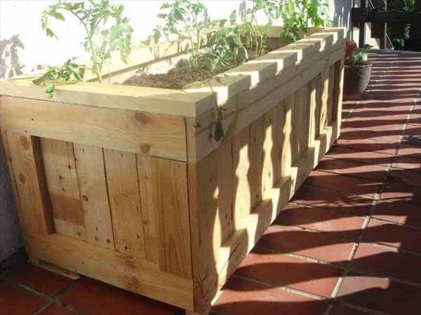 Pdf how to make flower boxes from pallets plans free for How to make a planter box out of pallets