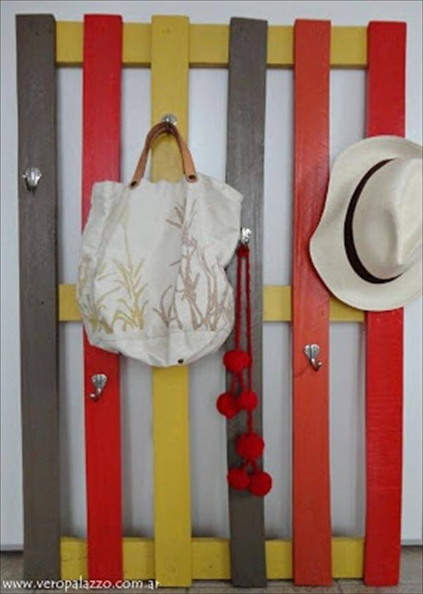 pallet coat rack idea