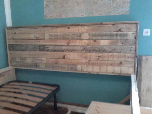 palllet bed headboard