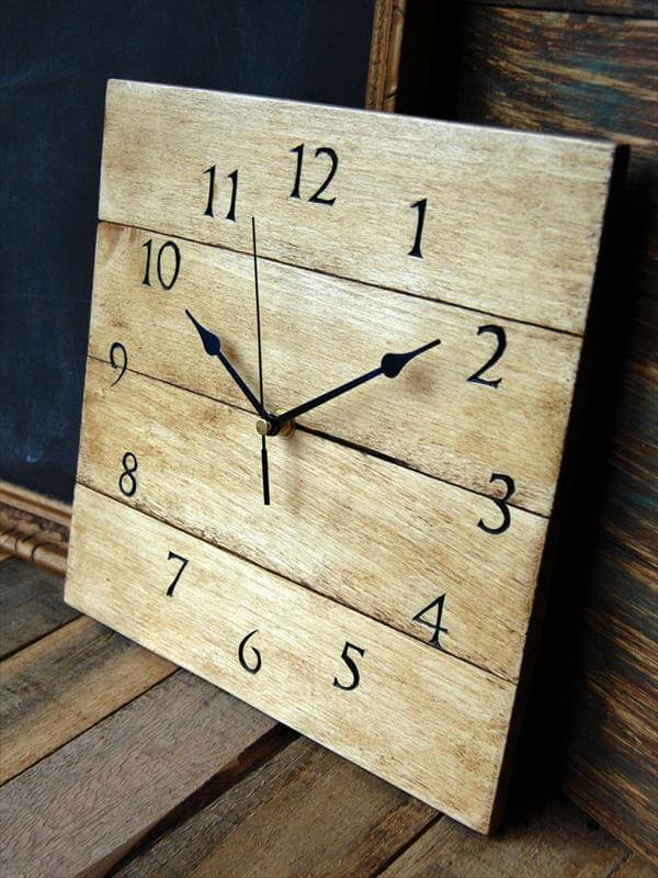 Diy Antique Wooden Pallet Wall Clock 101 Pallets