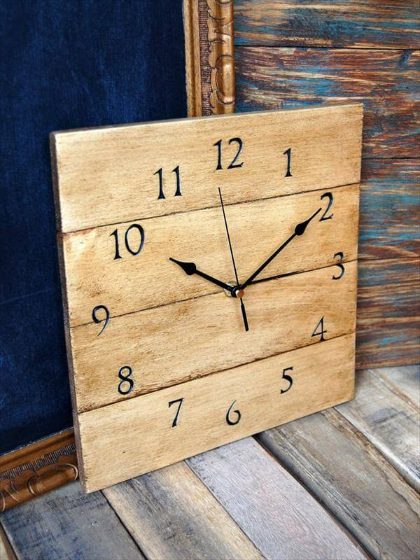 diy wood wall clock 2