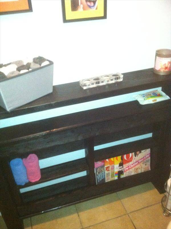 pallet console table idea