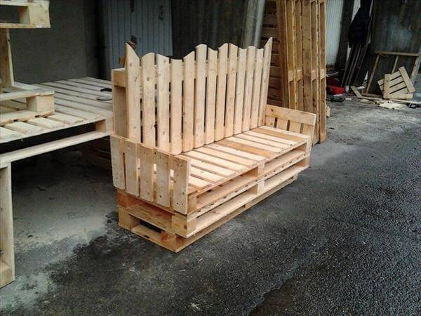 couch out of pallet wood
