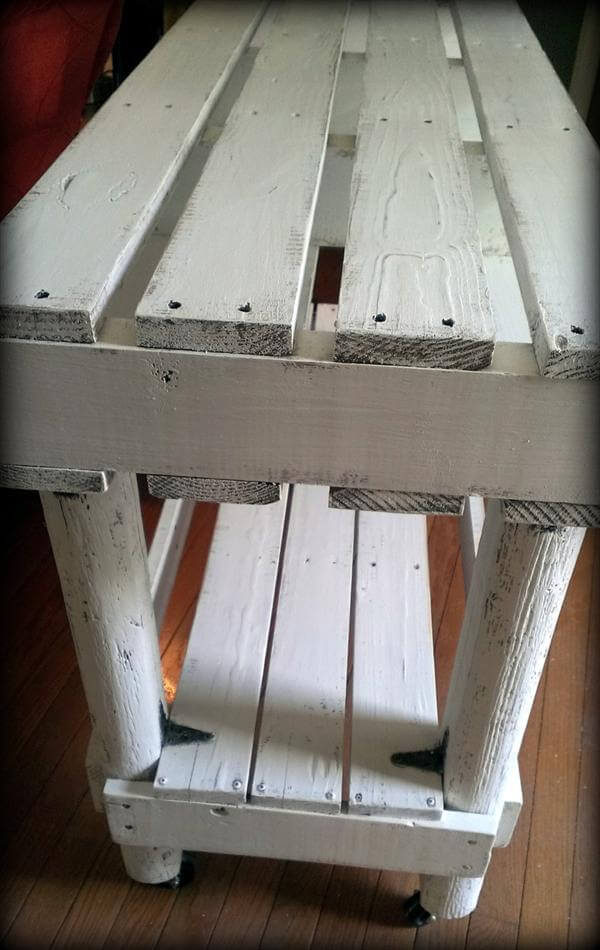Diy Cozy Pallet Entry Way Table 101 Pallets