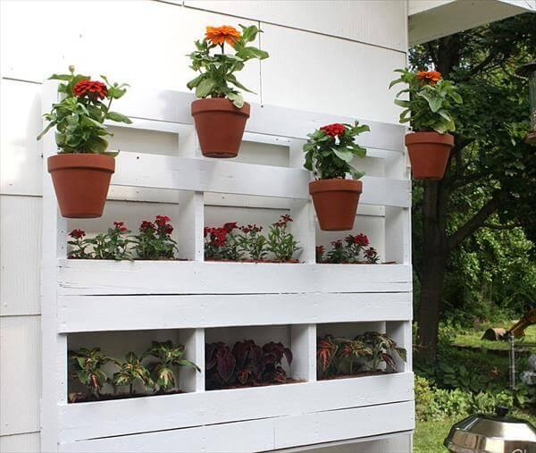 Diy Mini Pallet Garden Planter 101 Pallets