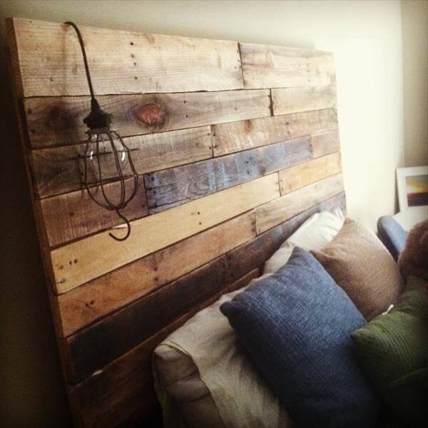 Simple DIY Pallet Headboard 101 Pallets