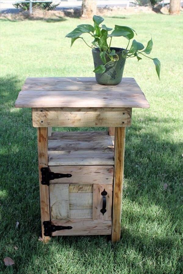 12 DIY Pallet Side Tables End Tables 101 Pallets