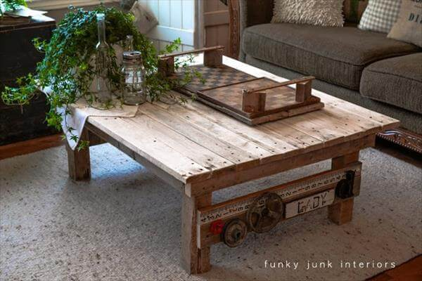 Making a outdoor pallet coffee table with wheels 101 pallets for Pallet coffee table instructions
