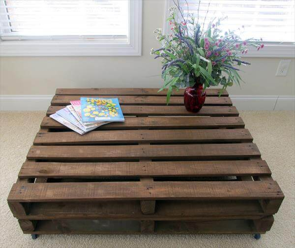 Old Pallet Wood Coffee Table 101 Pallets