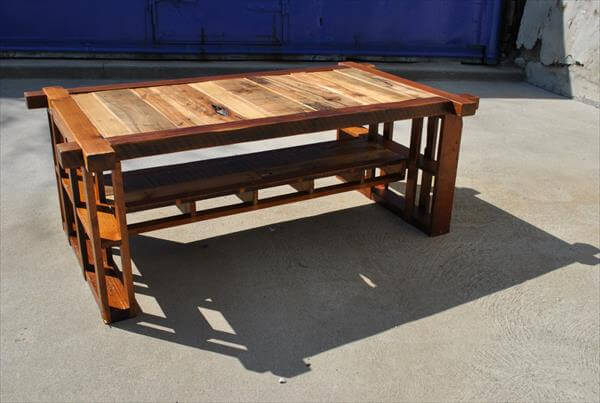 Salvaged Pine and Pallet Table