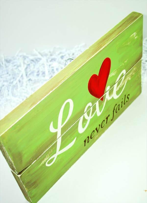 reclaimed wooden love art