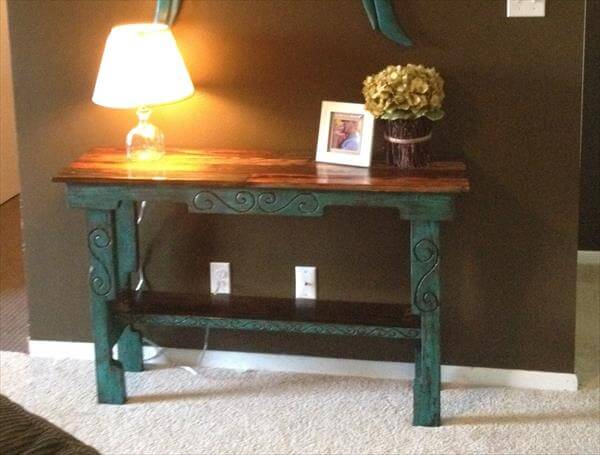 DIY Pallet Entry Way Table - Sofa Side Table | 101 Pallets
