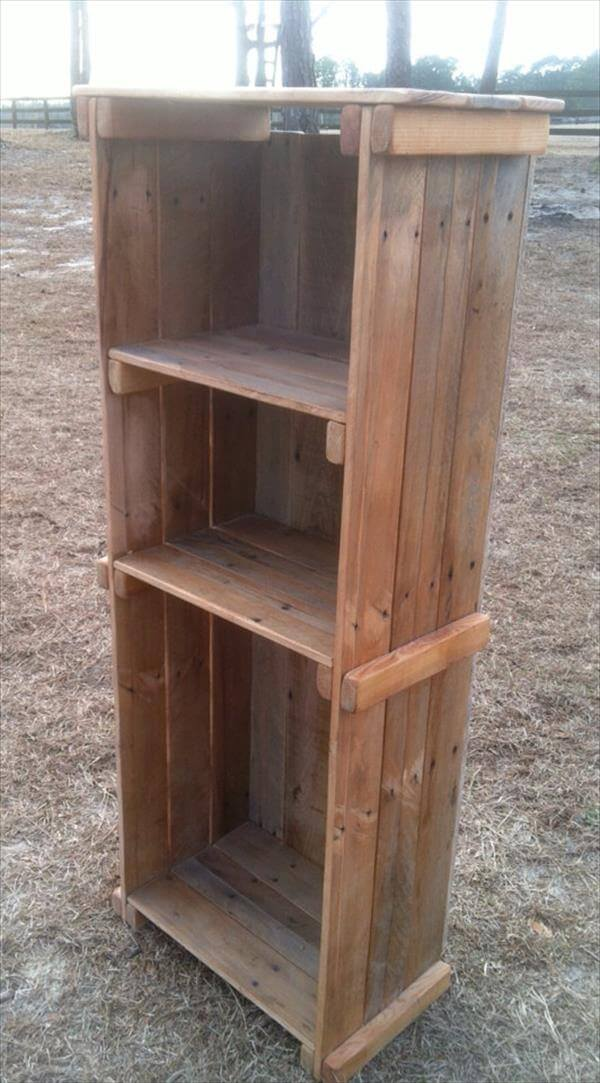 Rustic Bookshelf Out of Pallets Wood | 101 Pallets