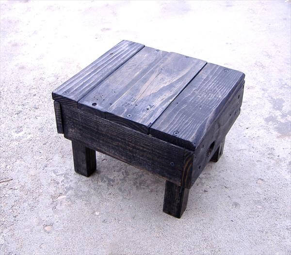 DIY Pallet Foot Stool 101 Pallets : pallet foot stool 3 from 101pallets.com size 600 x 526 jpeg 54kB