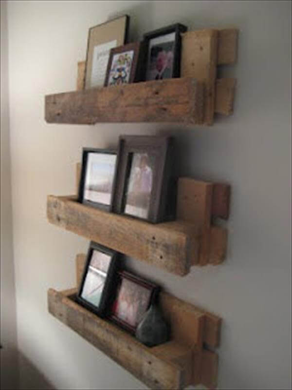 Wooden Pallet Wall Shelf DIY Fantastic Pallet Shelves DIY Pallet Fence ...