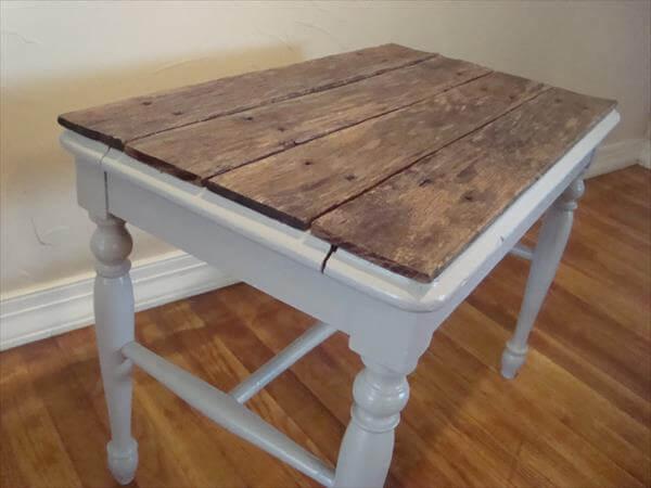 repurposed pallet top table