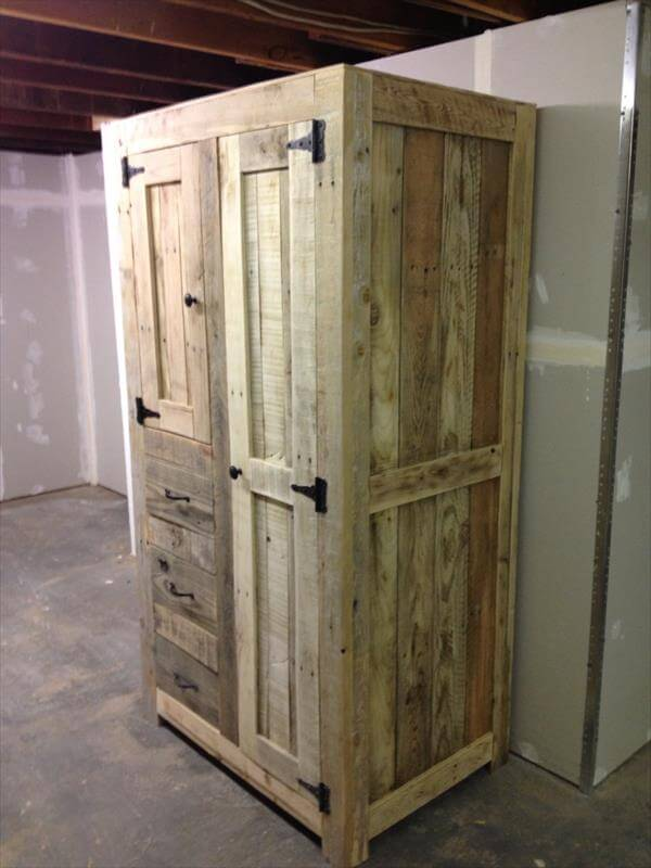 Diy Pallet Cabinet For Storage 101 Pallets